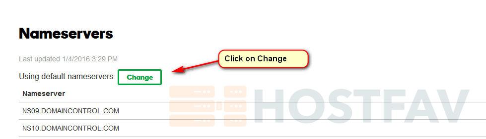 Change Nameservers